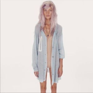 NWT WILDFOX White Label Slouchy '10' Cardigan